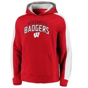 NWT Men's Fanatics Wisconsin Badgers Hoodie